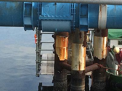 ガス管補修足場